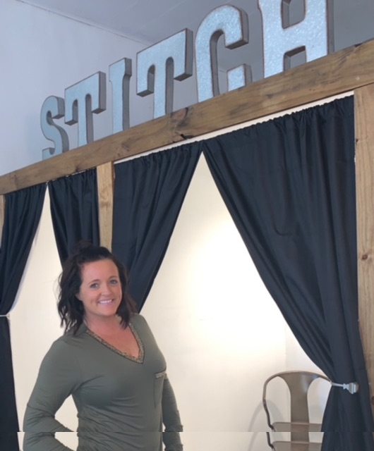Owner Courtney Hyer is pictured at Stitch Boutique in Leesburg. (Submitted photo)