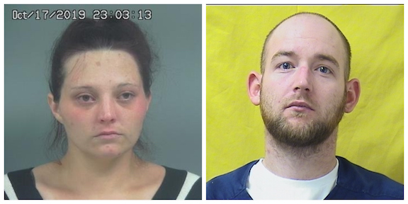 Pictured are Miranda Smith (courtesy of the Highland County Sheriff's Office) and Wesley Moore (courtesy of the Ohio Department of Corrections).