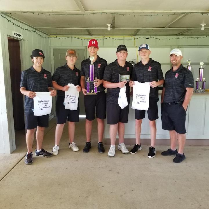 The Hillsboro Indians golf team won the 2020 Adam Sharp Invitational with a score of 178. (Submitted photos)